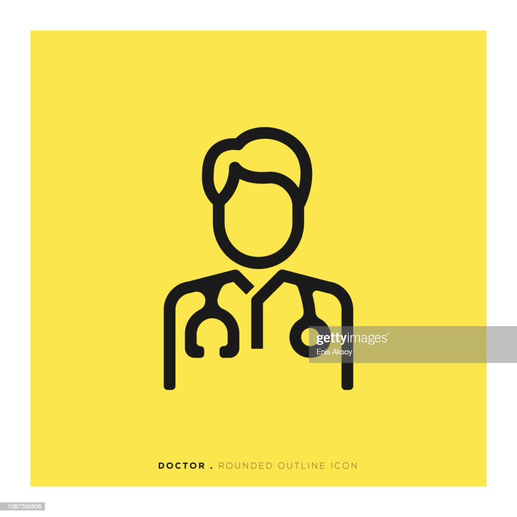 Doctor Rounded Line Icon