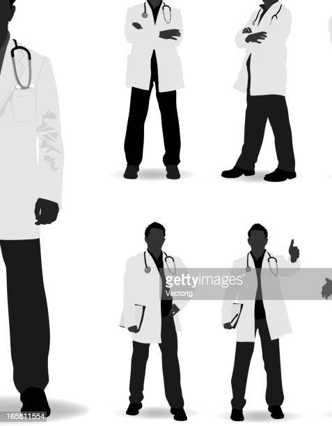 doctor silhouette - doctor stock illustrations