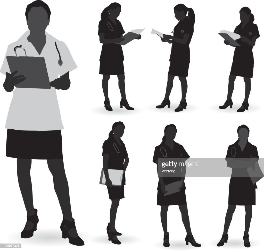 doctor silhouette vector art getty images
