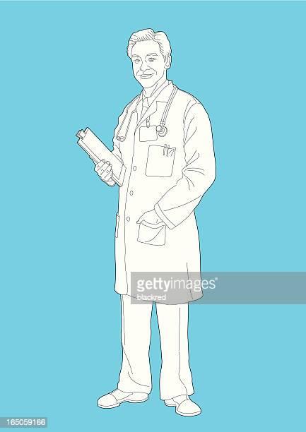医師 - 白衣点のイラスト素材/クリップアート素材/マンガ素材/アイコン素材