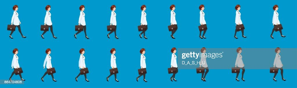 Doctor Walk cycle