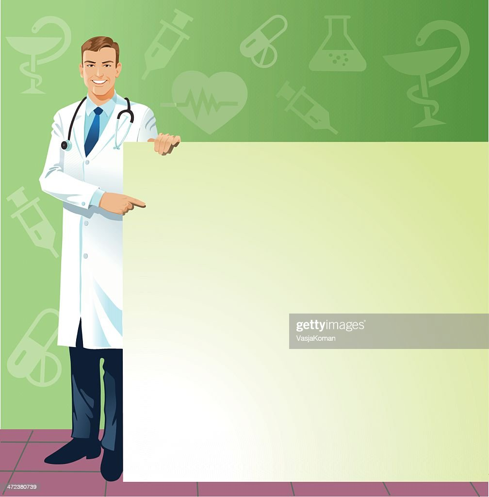 Doctor With Large Copy space