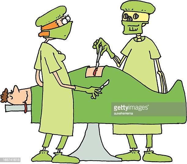ilustraciones, imágenes clip art, dibujos animados e iconos de stock de médico de la muerte - enfermera