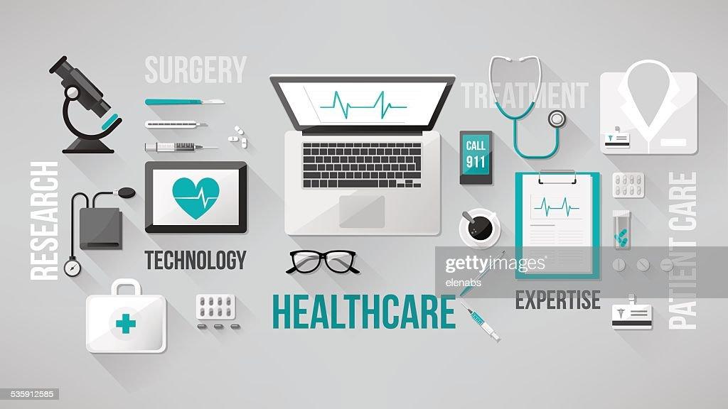 Médico ambiente de trabalho : Arte vetorial