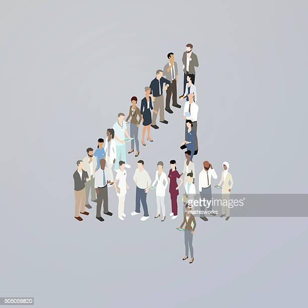 ilustrações de stock, clip art, desenhos animados e ícones de formando o número quatro médicos - mathisworks