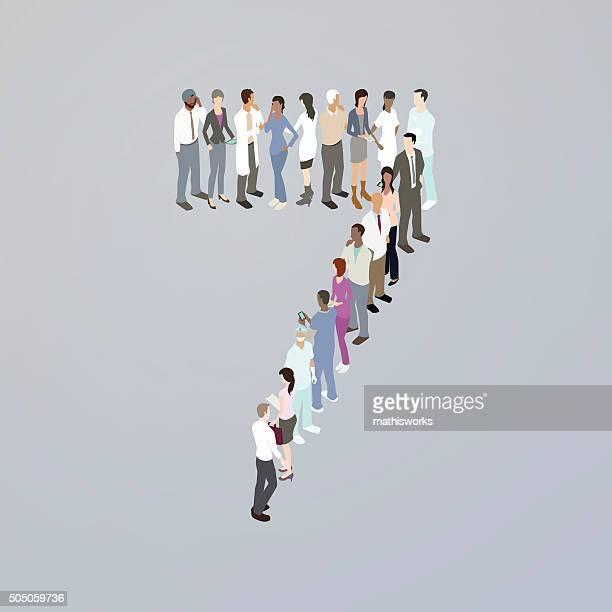 ilustrações de stock, clip art, desenhos animados e ícones de médicos que formam o número sete - mathisworks