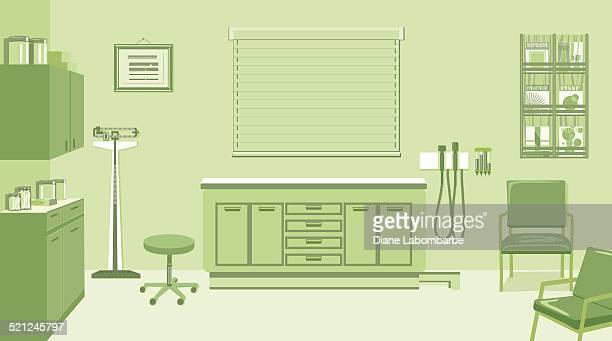 医者のオフィスでグリーン - 医院点のイラスト素材/クリップアート素材/マンガ素材/アイコン素材