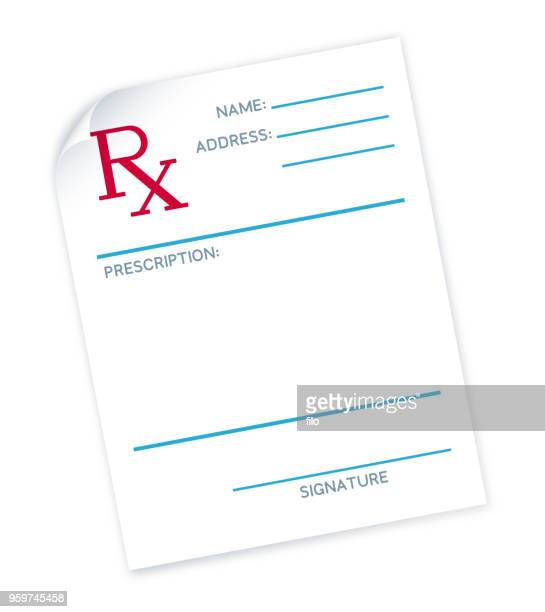 doctor's prescription note - prescription stock illustrations, clip art, cartoons, & icons