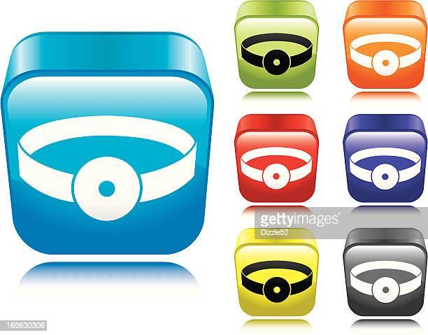 医者のリフレクターアイコン - リフレクター点のイラスト素材/クリップアート素材/マンガ素材/アイコン素材