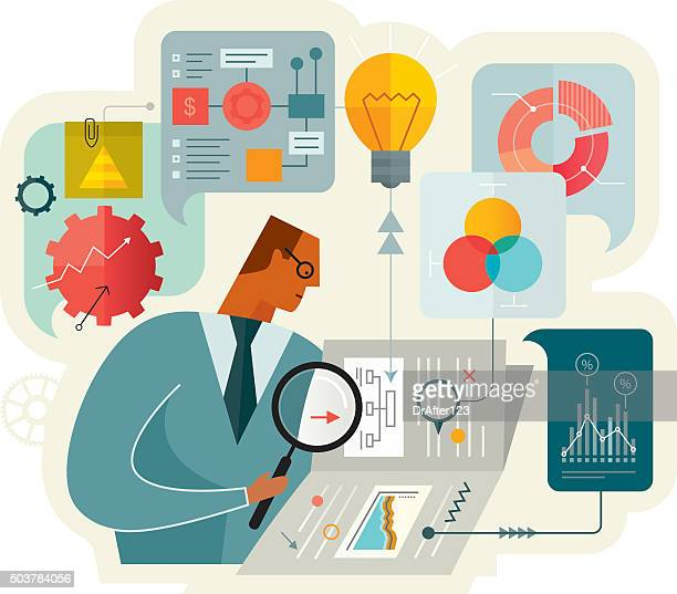 document analysis - reveal stock illustrations, clip art, cartoons, & icons