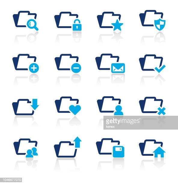 document and web icons two color icons set - filing documents stock illustrations, clip art, cartoons, & icons