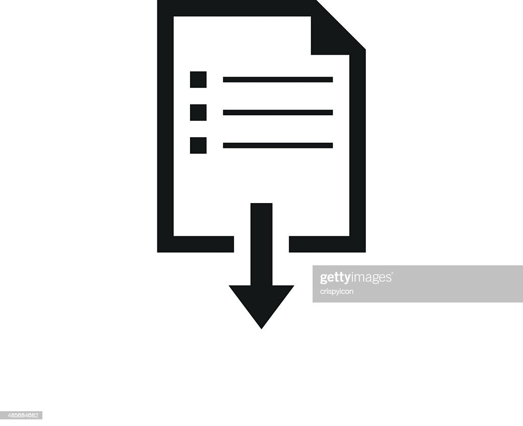 Document Downloading icon on a white background.