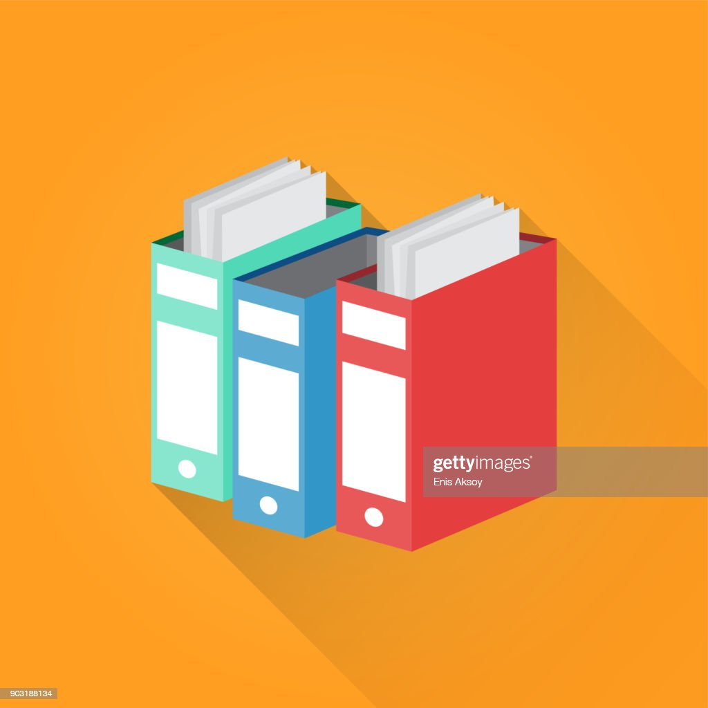 Document File Flat Icon : stock illustration