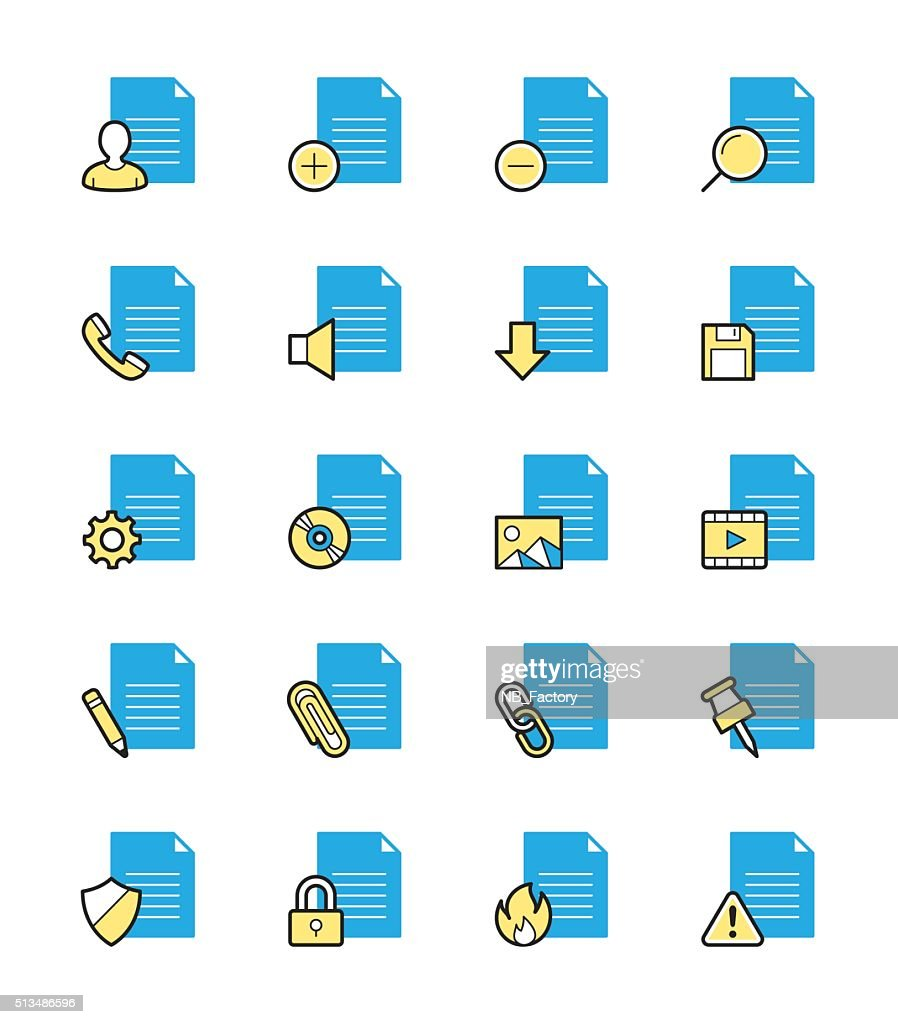 Document & File icon, Monochrome color - Vector Illustration