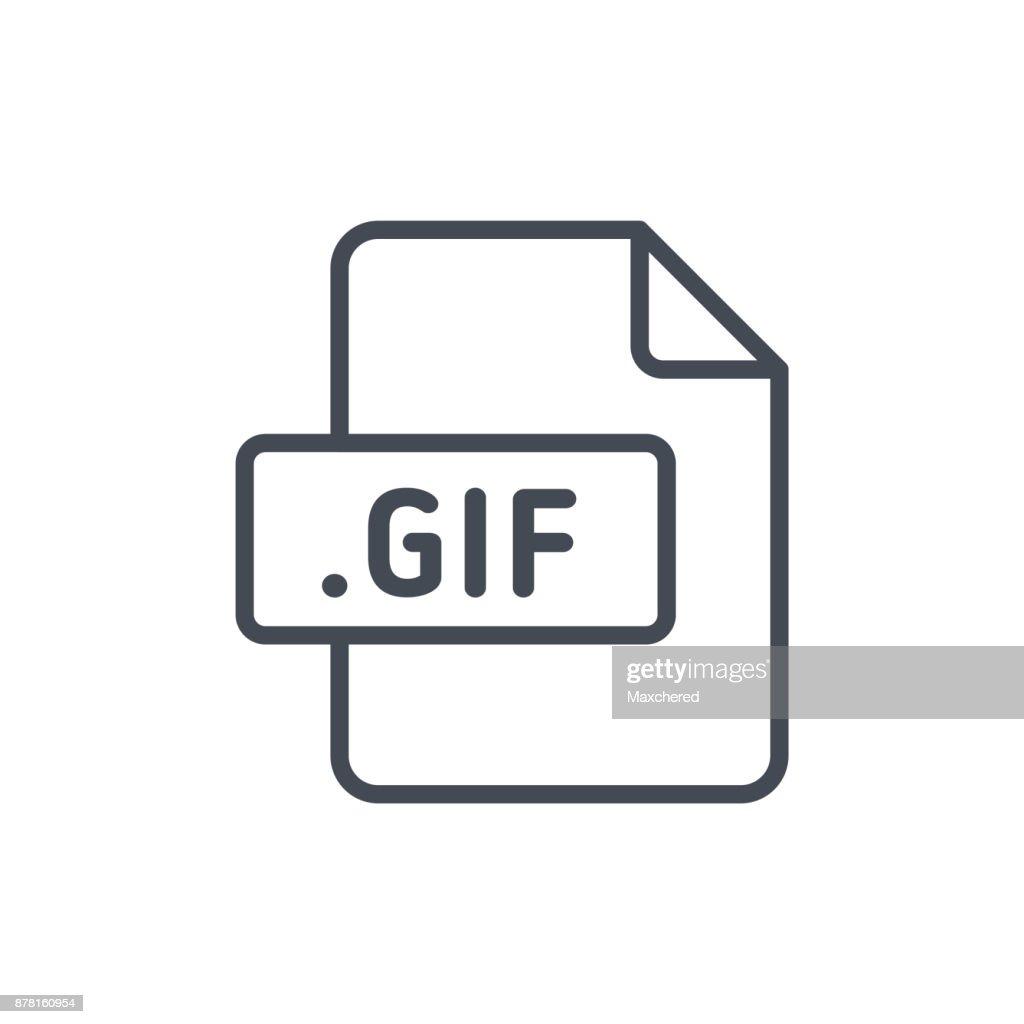 Document Files line vector GIF