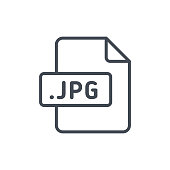 Document Files line vector JPG