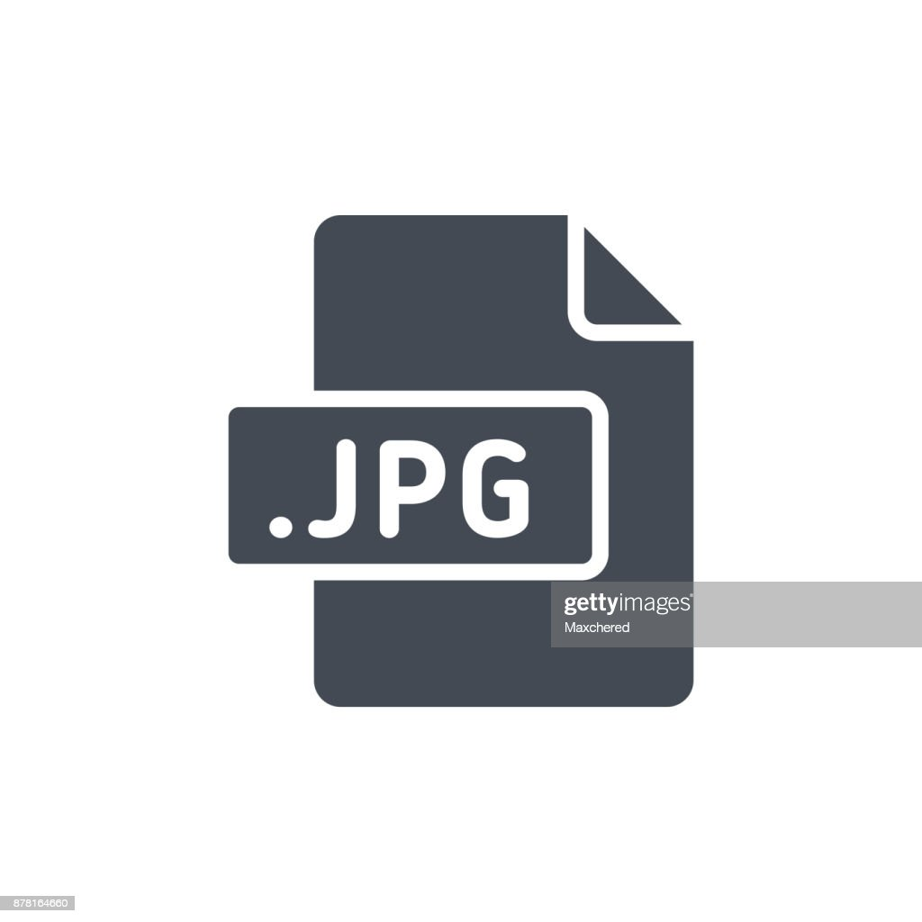 Document Files silhouette icon JPG