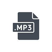 Document Files silhouette icon MP3