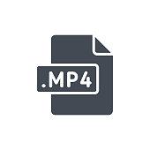 Document Files silhouette icon MP4