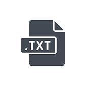 Document Files silhouette icon TXT