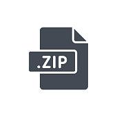 Document Files silhouette icon ZIP