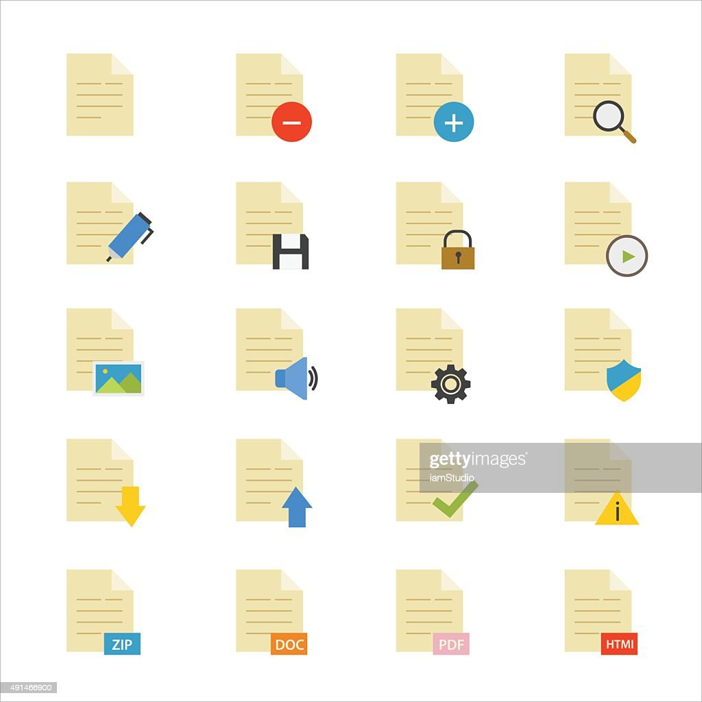 Document Flat Icons color