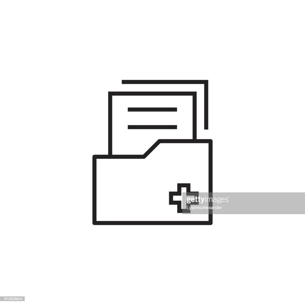 Document flat vector icon. Archive data file symbol  illustration.