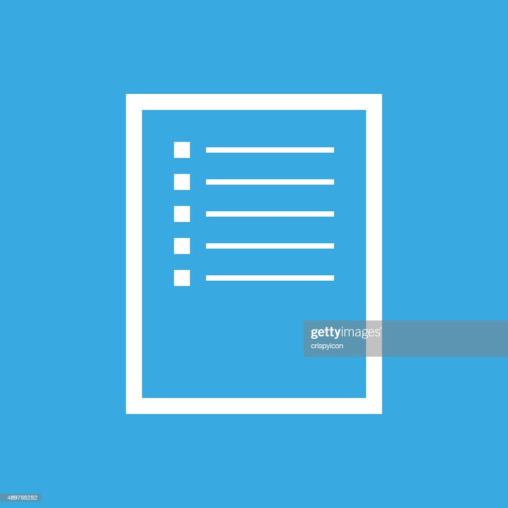 Document icon on a blue background. - Smooth Series