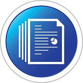 Document icon on a round button.