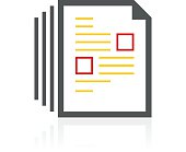 Document icon on a white background. - Color Series
