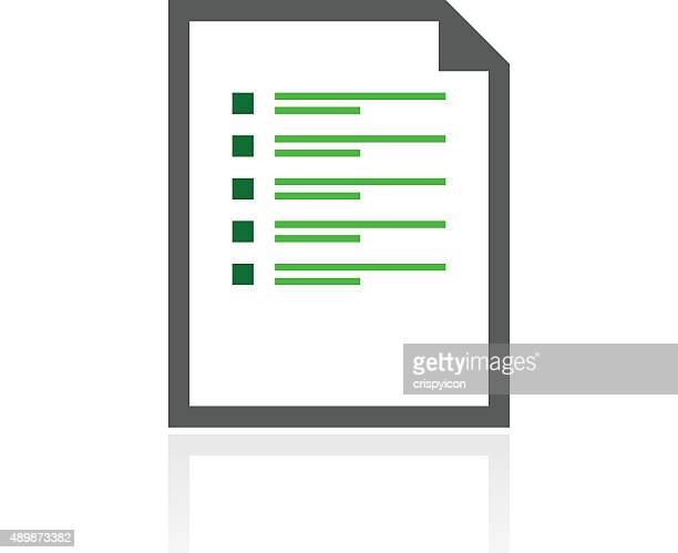 Document icon on a white background. - Fresh Series
