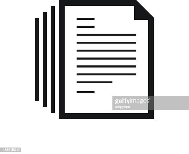 Document icon on a white background.