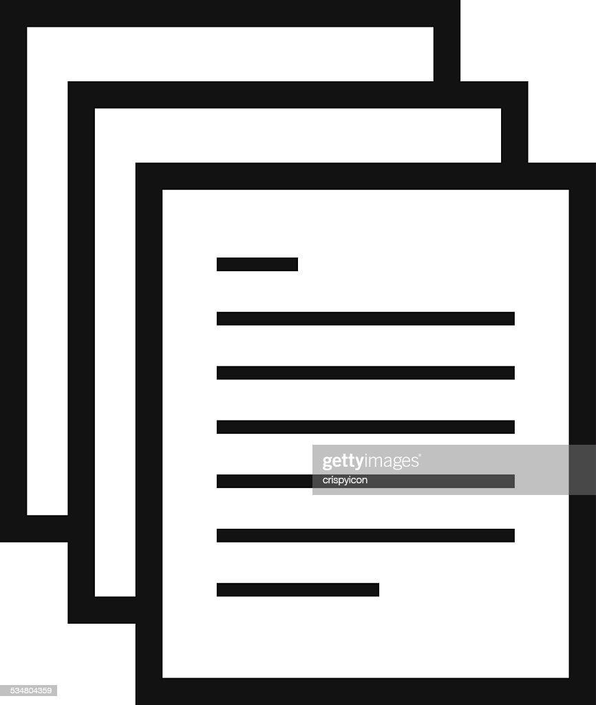 Document icon : stock illustration