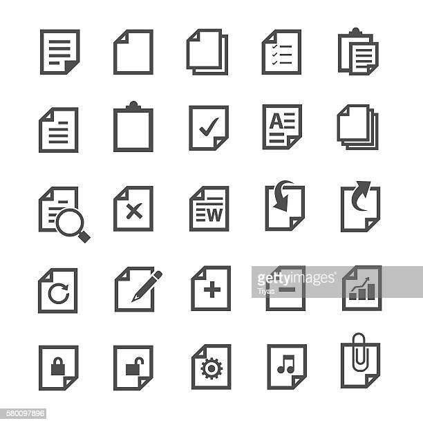 document icon - paperwork stock illustrations