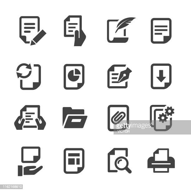 document icons - acme series - legal document stock illustrations, clip art, cartoons, & icons