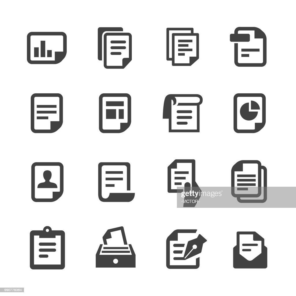 Ícones de documento - série Acme : Ilustração