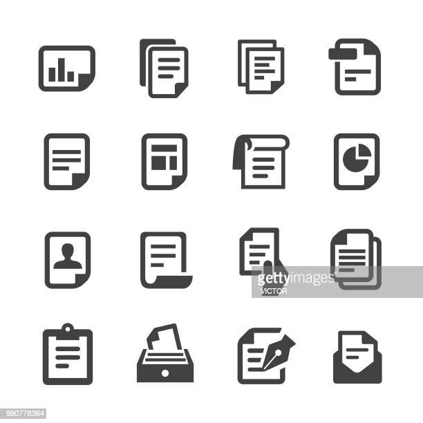 document icons - acme series - paperwork stock illustrations