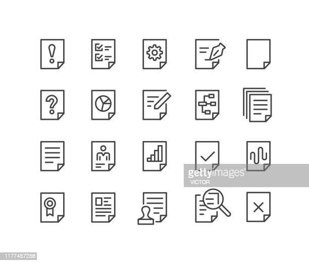 ドキュメントアイコン - クラシックラインシリーズ - コピーする点のイラスト素材/クリップアート素材/マンガ素材/アイコン素材