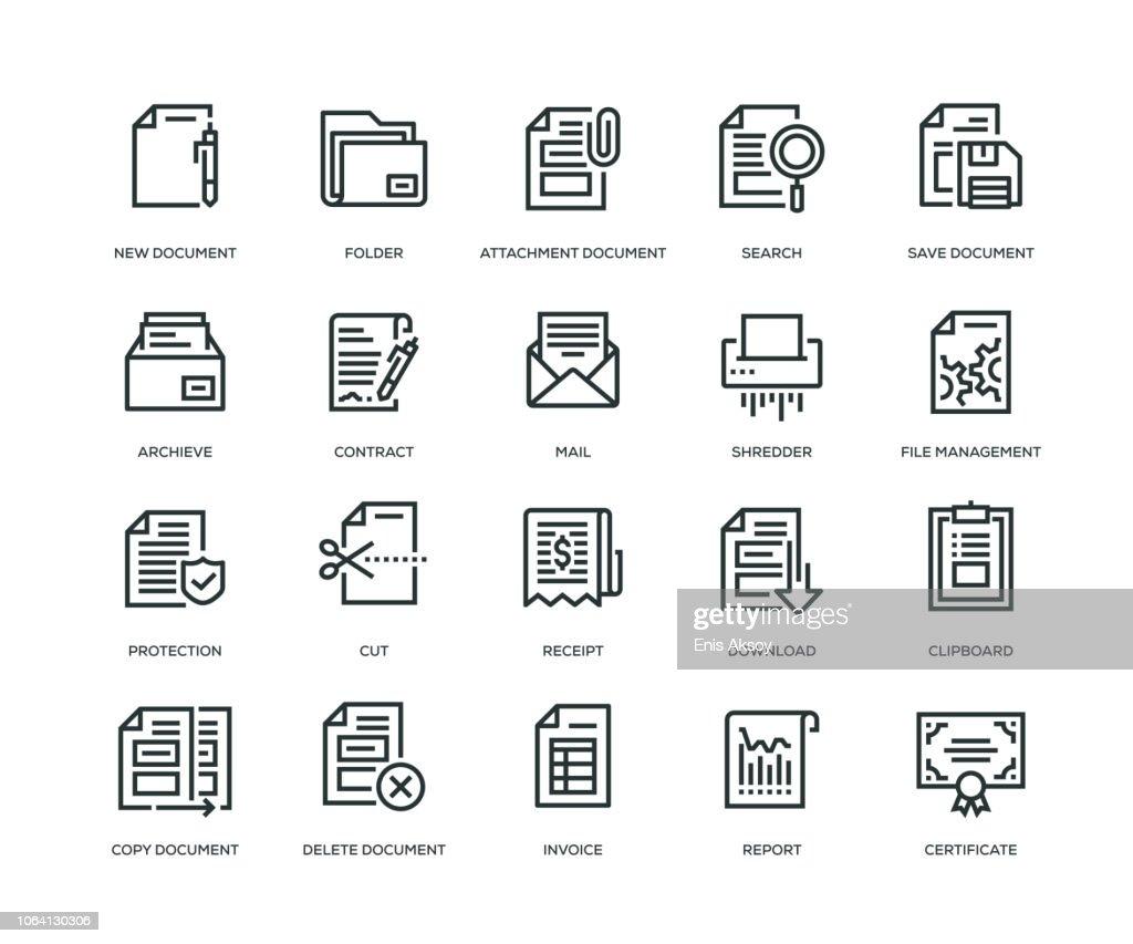Document Icons - Line Series