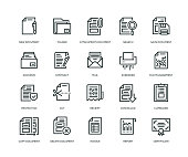 Document Icons - Line Series
