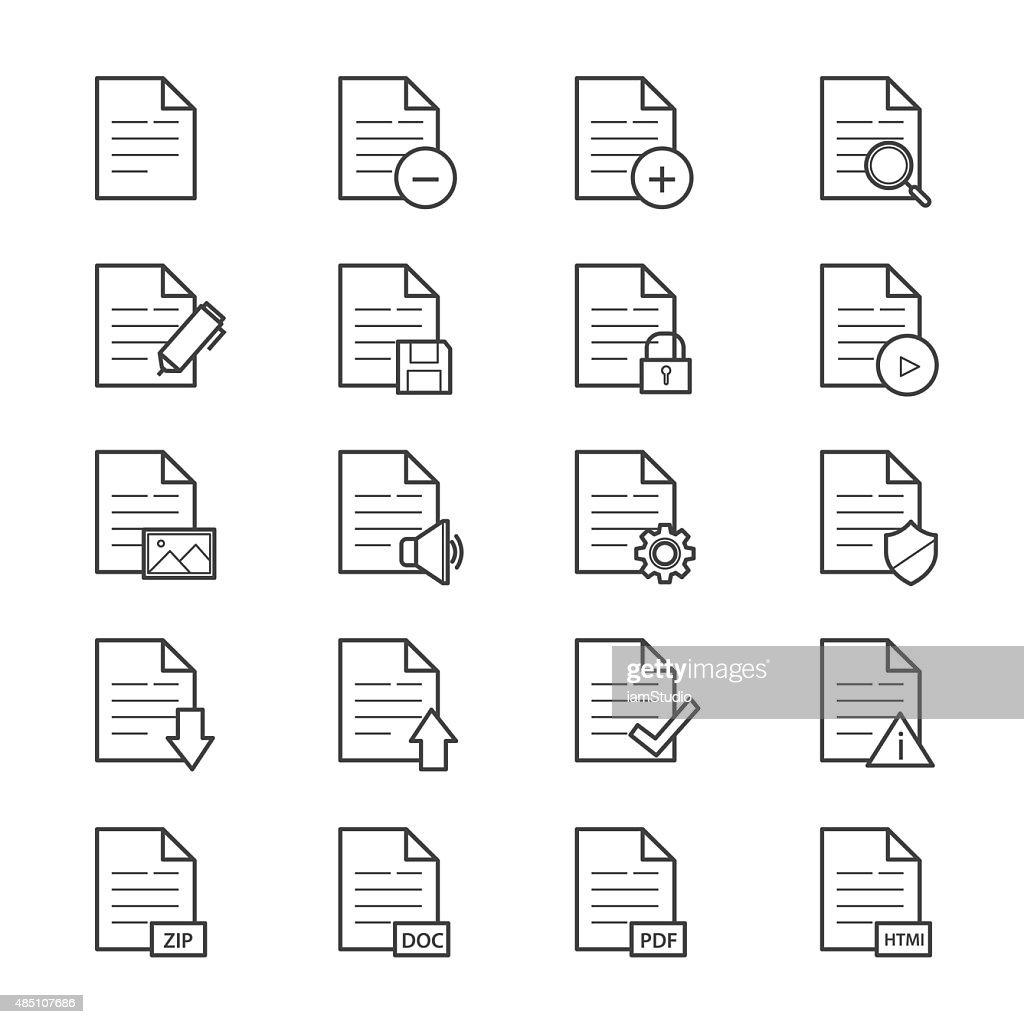 Document Icons Line