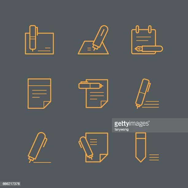 ilustrações, clipart, desenhos animados e ícones de ícones de documento - preencher um formulário