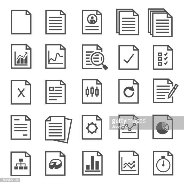 document icons - financial bill stock illustrations