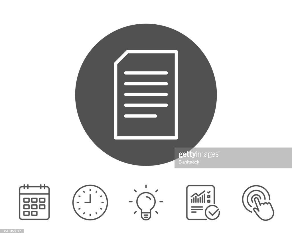 Dokument Management Liniensymbol Dateizeichen Vektorgrafik   Getty ...