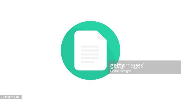 Document paper icon with light shadow