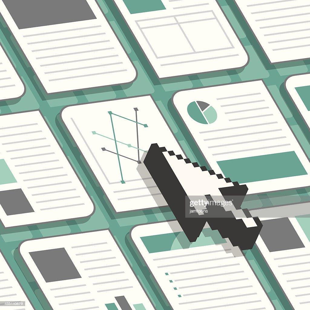 Document Selection : stock illustration
