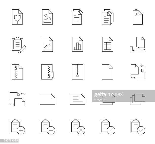 ドキュメント セット アイコン - ファスナー点のイラスト素材/クリップアート素材/マンガ素材/アイコン素材