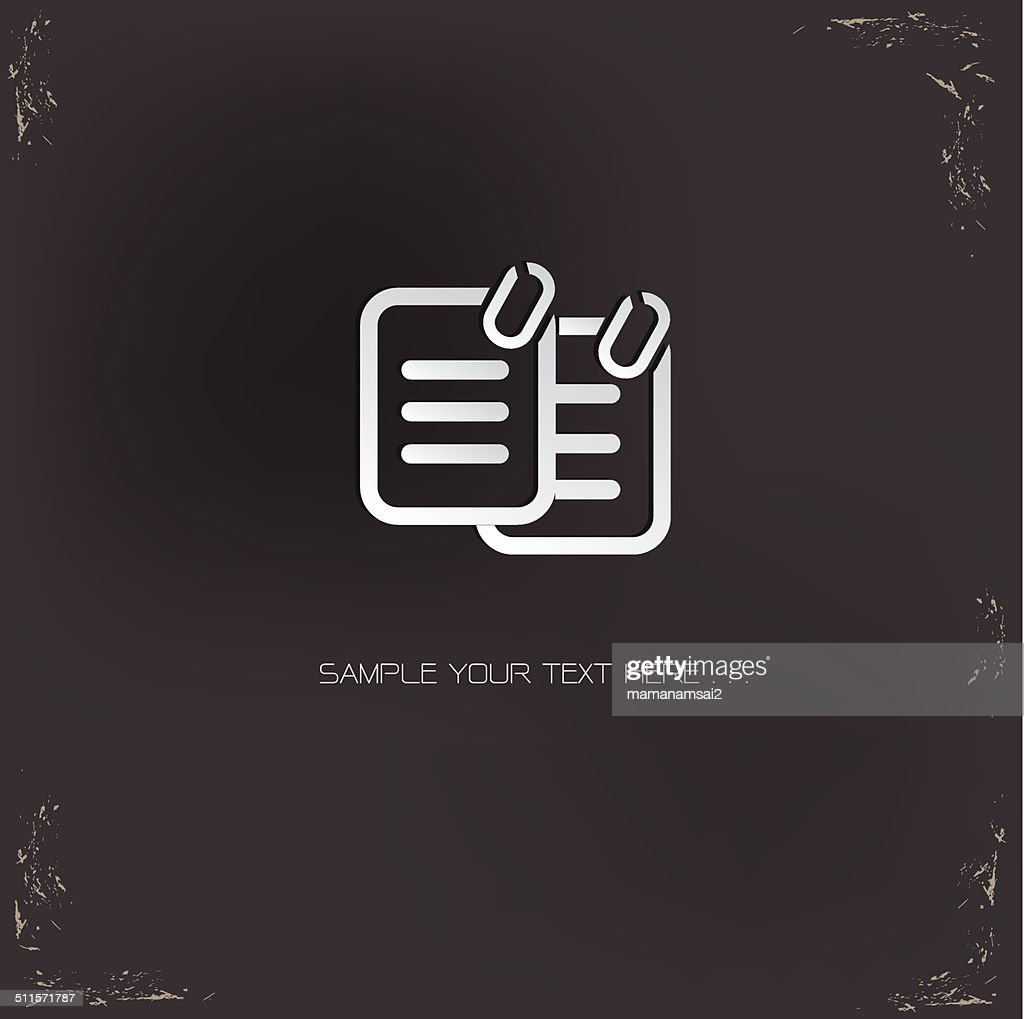 Document sign,vector