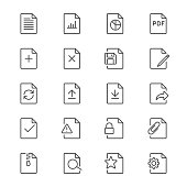 Document thin icons