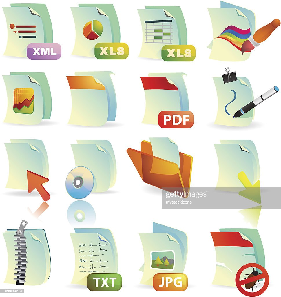 Document Web Icons : stock illustration